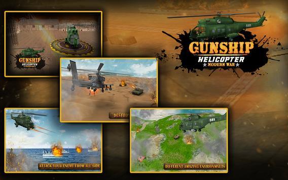 Gunship Helicopter Modern war 3d screenshot 9