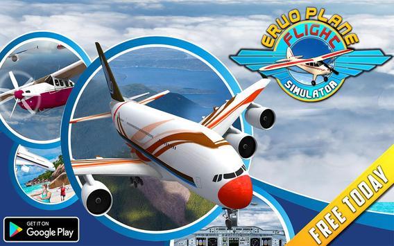 Real Euro Plane Flight Simulator 2018 screenshot 17