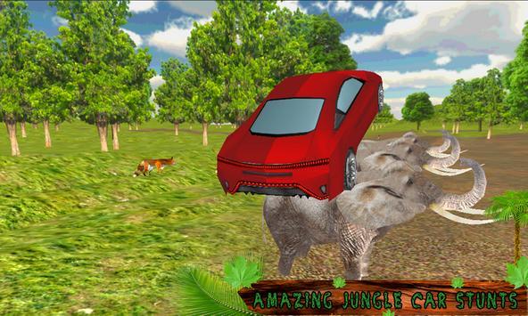 Crazy Jungle Car Stunts 3D poster