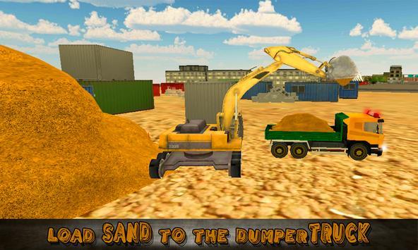 Heavy Excavator Truck Sim 3D poster