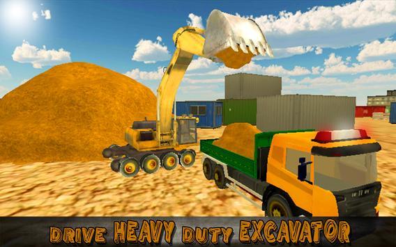 Heavy Excavator Truck Sim 3D screenshot 5
