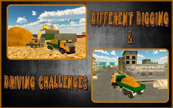 Heavy Excavator Truck Sim 3D screenshot 6