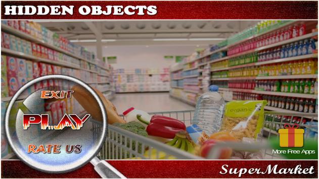 Hidden Objects Supermarket poster