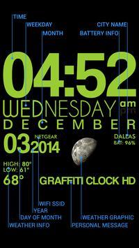 GRAFFITI CLOCK HD LITE poster