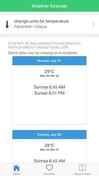 Orlando weather forecast, clim apk screenshot
