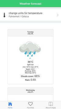 Moscow weather screenshot 1