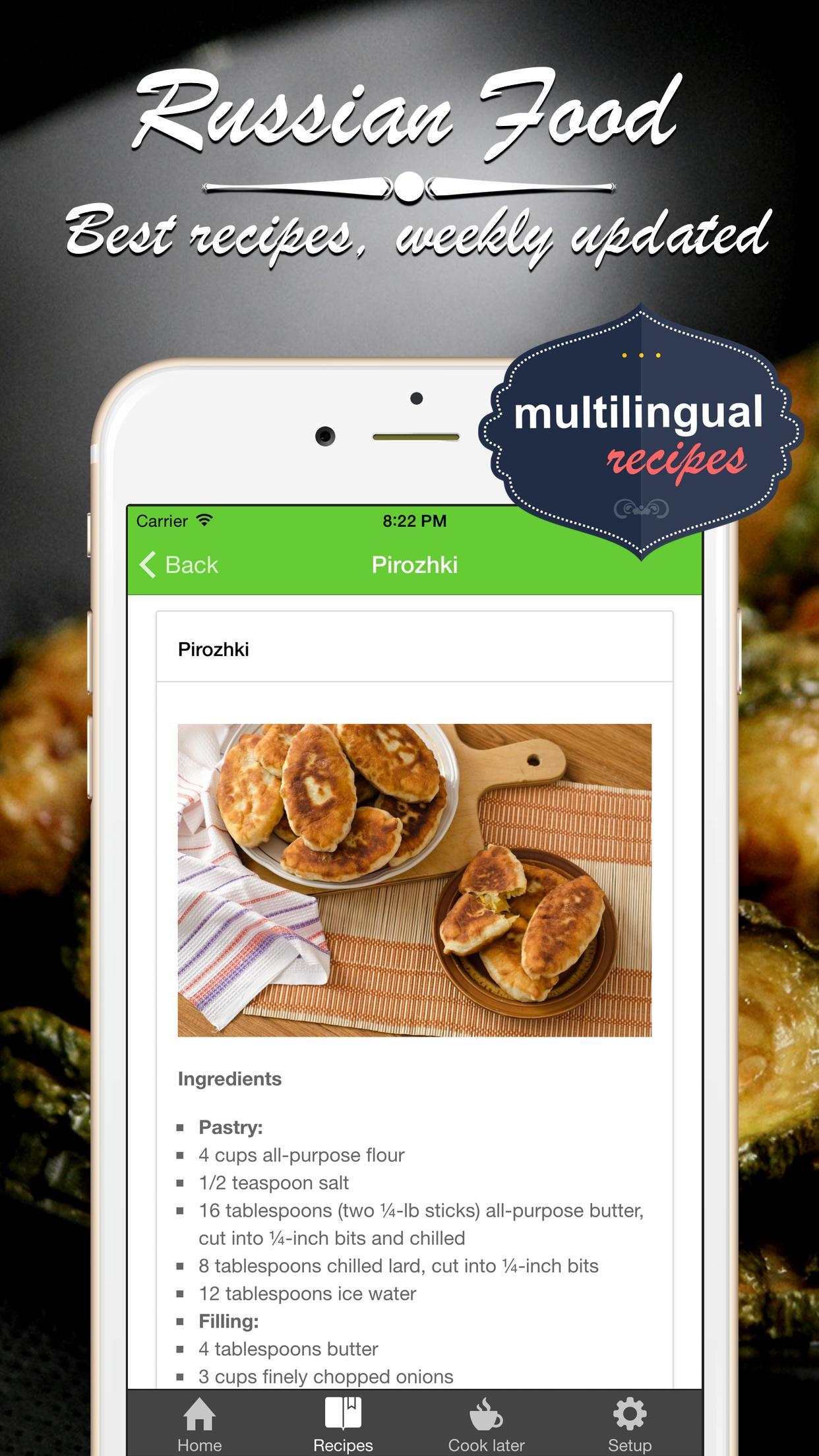 Russische Küche, Rezepte für Android - APK herunterladen
