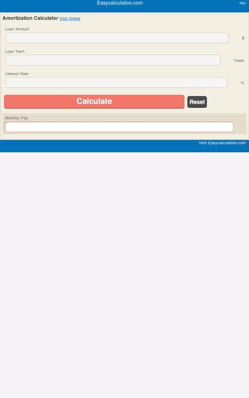amortization calculator apk download free education app for