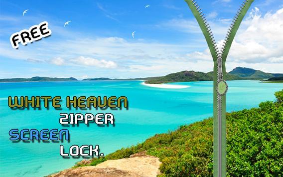 White Heaven Zipper Lockscreen screenshot 3