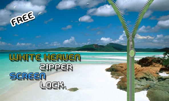 White Heaven Zipper Lockscreen apk screenshot