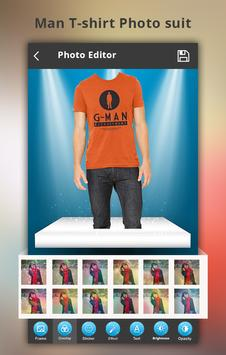 Man T-shirt Photo Suit screenshot 1