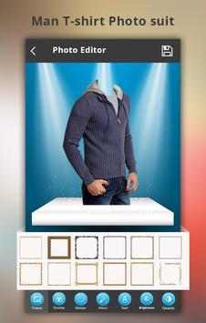 Man T-shirt Photo Suit screenshot 5