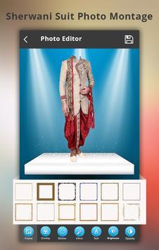 Sherwani Suit Photo Montage poster