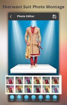 Sherwani Suit Photo Montage screenshot 1