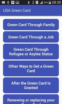 USA Green Card poster