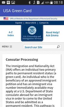 USA Green Card apk screenshot