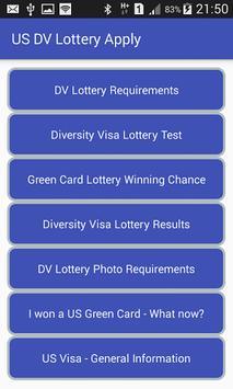 US DV Lottery Apply poster