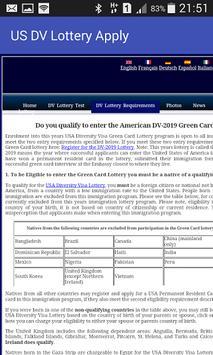 US DV Lottery Apply apk screenshot