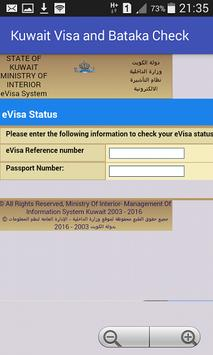 Kuwait Visa and Civil ID Check poster