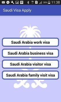Saudi Visa Apply and Check poster