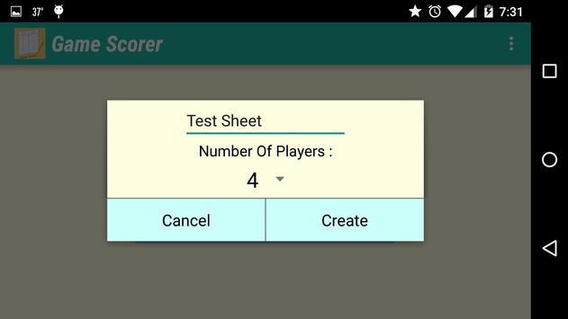 Game Scorer screenshot 1