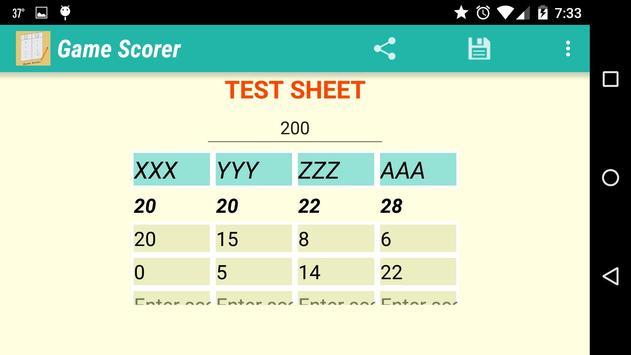 Game Scorer screenshot 2