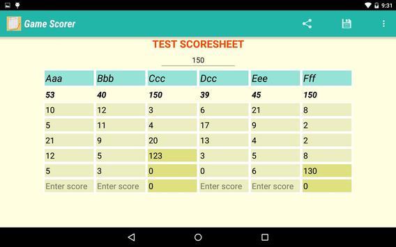 Game Scorer screenshot 8
