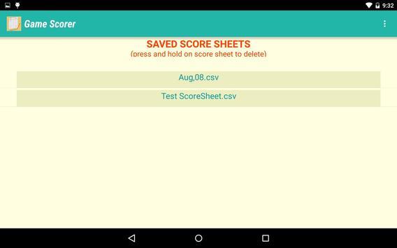 Game Scorer screenshot 9