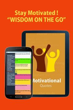 Motivational quotes for life poster