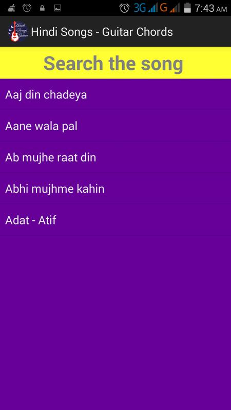 Hindi Songs Guitar Chords FREE APK Download - Free Music & Audio APP ...