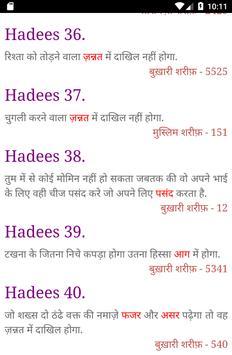 40 हदीस-ए-नब्वी : Hadees in Hindi screenshot 3