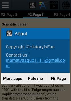 Albert Einstein Biography apk screenshot