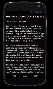 History of Augustus Caesar apk screenshot