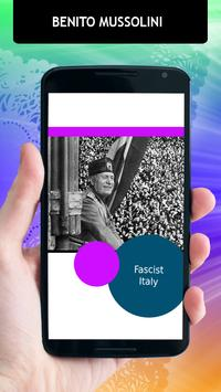 Benito Mussolini Biography apk screenshot