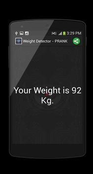 Weight Detector - PRANK apk screenshot