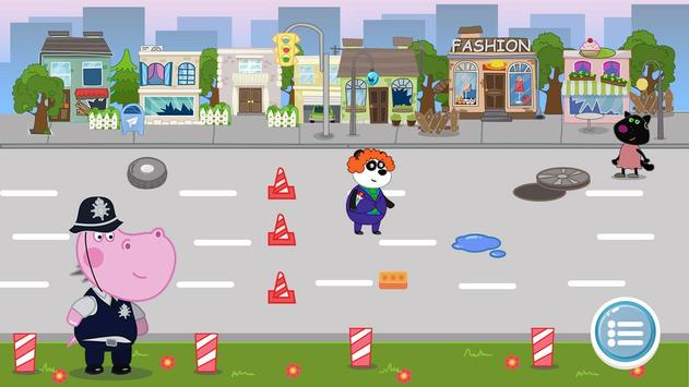 Kids Policeman games: Hippo Detective apk screenshot