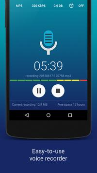 Hi-Q MP3 Voice Recorder (Free) poster