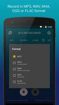 Hi-Q MP3 Voice Recorder (Free) screenshot 3