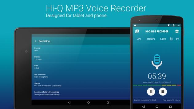 Hi-Q MP3 Voice Recorder (Free) screenshot 9