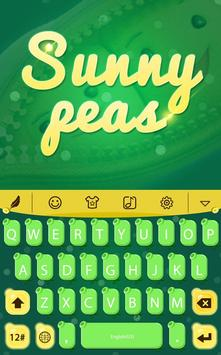 Sunny peas for HiTap Keyboard poster