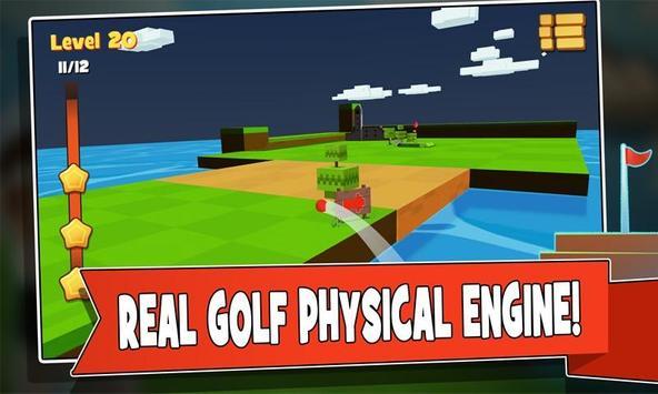 Hit golf 3D poster