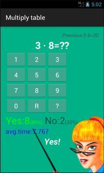 Multiply Table screenshot 1