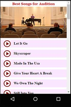 Best Songs for Audition apk screenshot