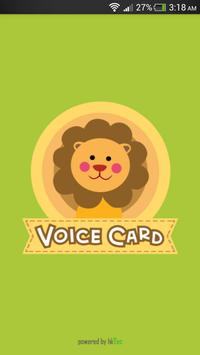 Voice Learning Card - Animals poster