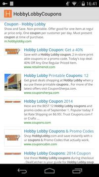 Coupons for Hobby Lobby poster