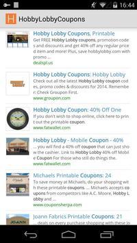 Coupons for Hobby Lobby apk screenshot