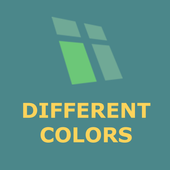 Search different color blocks icon