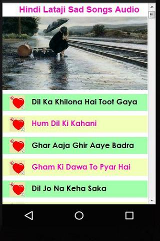 Hindi Lataji Sad Songs Audio for Android - APK Download