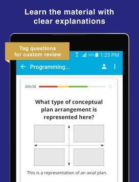 NCIDQ IDFX Flashcards for the Interior Design Exam screenshot 6