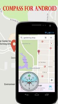 Compass - GPS Digital poster